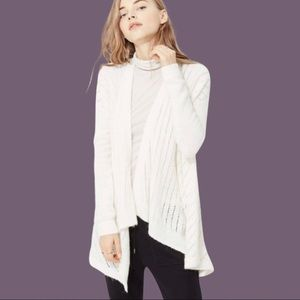 Lou & Grey On Point Waterfall Cardigan in Ivory